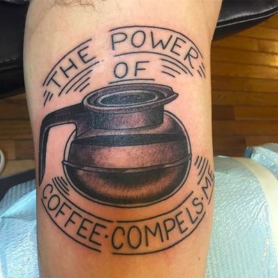 So compelling. By Matthew Simmons (via IG -- matthewxsimmons) #matthewsimmons #coffee #coffeepot #coffeetattoo #coffeepottattoo