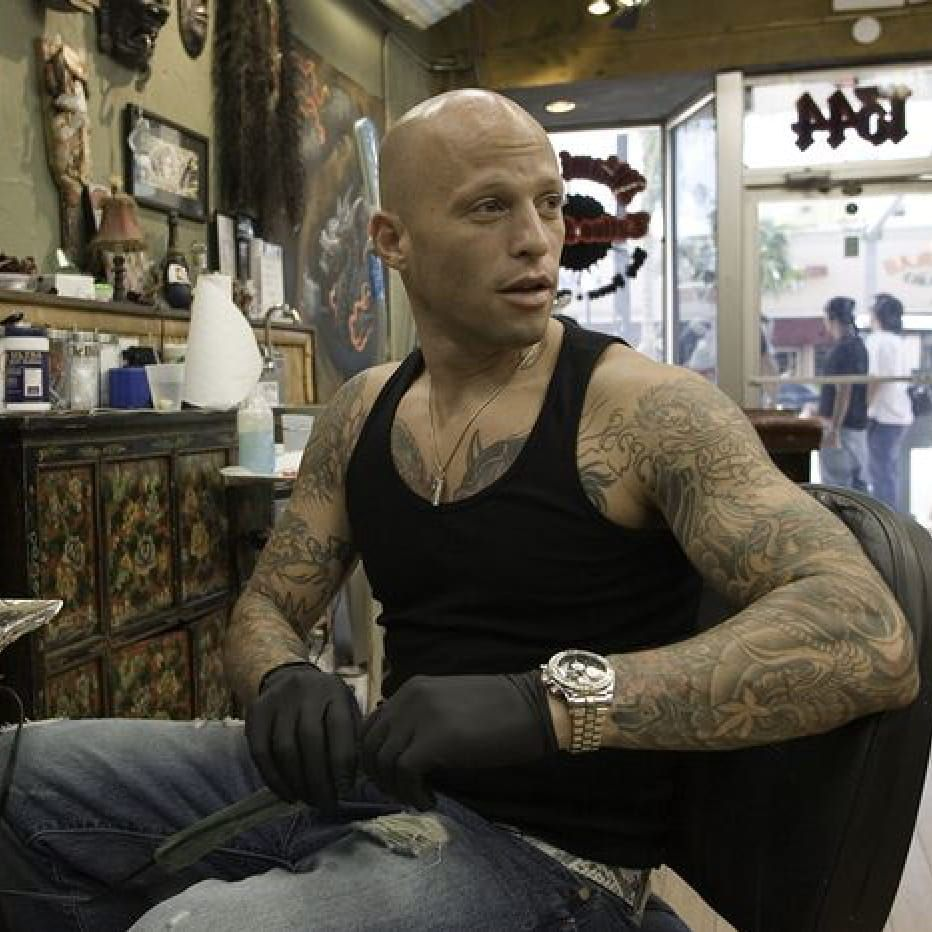 Ami James (most likely making a smart ass comment) on Miami Ink. #amijames #miamiink