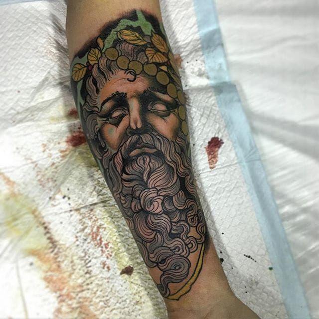 Zeus Tattoo by Jake Danielson #zeus #zeustattoo #neotraditional #neotraditionaltattoo #neotraditionaltattoos #neotraditionalartist #JakeDanielson