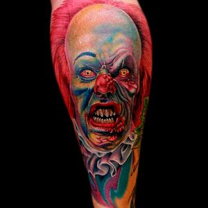 Psychedelic horror in full color by Cecil Porter #Pennywise #IT #StephenKing #clown #reboot #TimCurry #horror #realism #CecilPorter