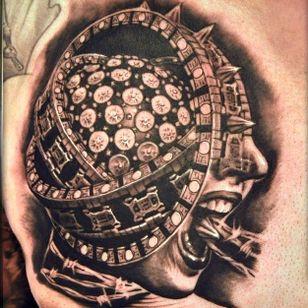 Fucking insane Event Horizon tattoo by Dobi Slavov #dobislavov #eventhorizon #paulwsanderso