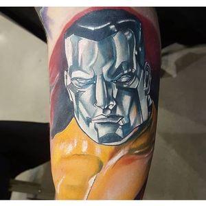 Colossus Tattoo by Jay Painter #Colossus #XMen #MarvelTattoos #SuperheroTattoos #JayPainter
