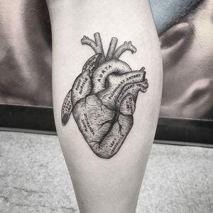 Heart Tattoo by Thomas Eckeard #heart #hearttattoo #blackworkheart #blackwork #blackworktattoo #blackworktattoos #detailedtattoo #smalltattoo #detailedblackwork #ThomasEckeard