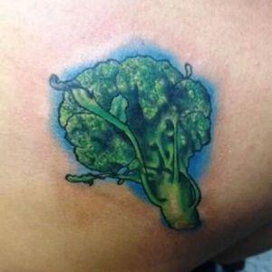 Long armed broccoli by Leonardo Gonzalez #broccolitattoo #LeonardoGonzalez