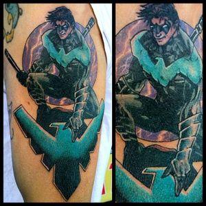 Nightwing Tattoo by Steve Rieck #Nightwing #DC #comics #SteveRieck