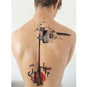 Graphic tattoo by Metamose #Metamose #graphic #contemporary