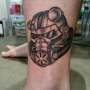 Brotherhood Of Steel Tattoo by Adam Miller #BrotherhoodOfSteel #BrotherhoodOfSteelTattoo #FalloutTattoos #FalloutTattoo #Fallout4 #Gaming #AdamMiller