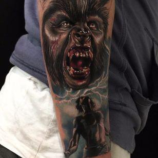 Werewolf Tattoo by Kristian Kimonides #wolf #werewolves #werewolf #horror #horrorcreature #halloween #KristianKimonides