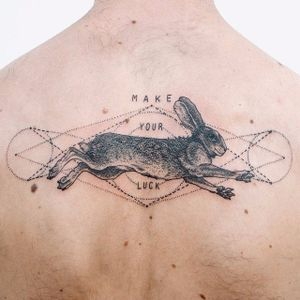 Hare Tattoo by Pony Reinhardt #hare #animal #contemporary #PonyReinhardt