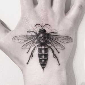 Fine Line Bug Tattoo by Sanghyuk Ko #FineLine #MicroTattoos #BlackandGrey #BangBangNYC #SanghyukKo #micro #blackwork