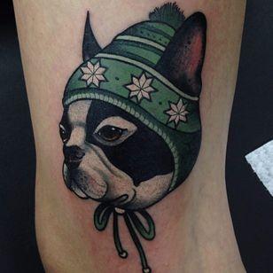 A dapper little puppy. (Via IG - diegoapu) #animal #creature #neotraditional #diegoapu