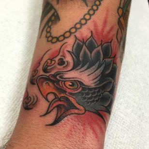 Eagle Head Tattoo by @alton_sides #EagleHead #EagleTattoo #TraditionalEagle #Traditional