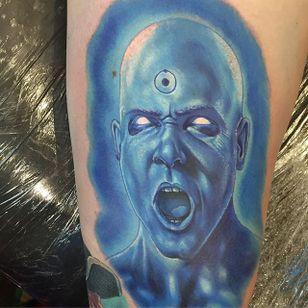 Doctor Manhattan Tattoo #Watchmen #Portrait #ColorPortrait #ColorRealism #PopCulture #AlexRattray