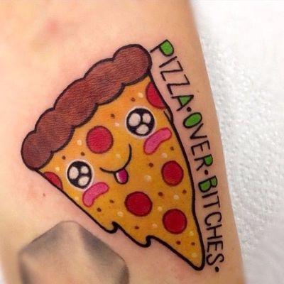 Tão lindinha... #RobertoEuan #PizzaTattoo #pizzalovers #pizza #pizzaday #diadapizza #kawaii