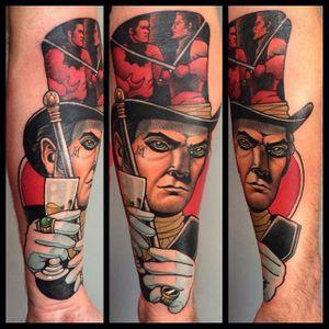 Magician Tattoo by Bartosz Panas #magician #magiciantattoo #neotraditional #neotraditionaltattoo #neotraditionalartist #polishtattoo #polishartist #BartoszPanas