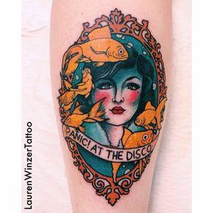Panic at the Disco tattoo by Lauren Winzer. #band #music #lyrics #patd #panicatthedisco #fan