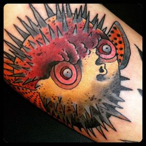 Pufferfish Tattoo by Andreas Hentsche #pufferfish #fish #sealife #AndreasHentsche