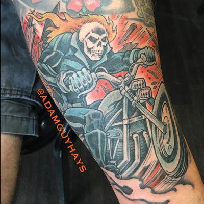 Ghost Rider by Adam Guy Hays. (Via IG - adamguyhays) #ghostrider #marvel #adamguyhays