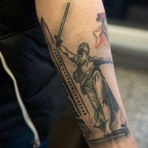 Tattooed Russia, photo by Ulyana Turchanina. #Russia #Russian #patriot #pride #themorherlandcalls #statue