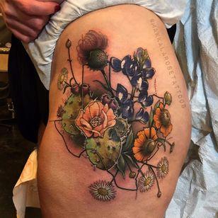 Mais flores #MakkalaRose #gringa #neotraditional #colorido #colorful #flor #flower #margarida #daisy #cacto #cactus #nature #natureza #botanica #botanical