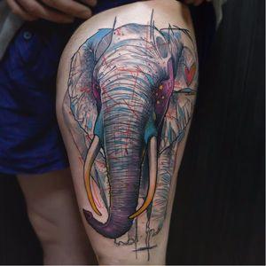 #Schwein #tatuadorgringo #coloridas #colorful #sketch #abstrata #abstract #elefante #elephant