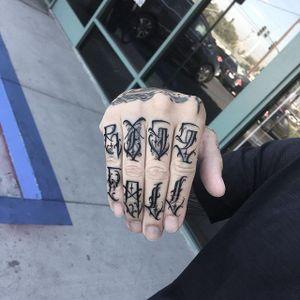 'Rise Fall' Tattoo by Dean James Mcleod #lettering #script #darklettering #blackwork #blacklettering #DeanJamesMcleod