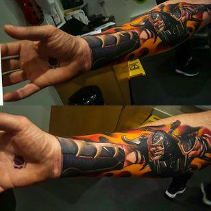 Scorpion from Mortal Kombat. Amazing work by Craig Cardwell. #CraigCardwell #surreal #painterly #scorpion #mortalkombat