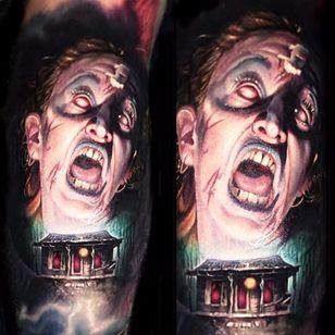 Cheryl from The Evil Dead by Paul Acker (IG—paulackertattoo). #Cheryl #color #EvilDead #PaulAcker #portraiture