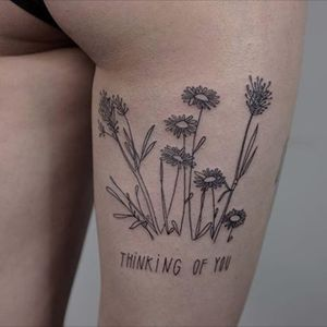 Thoughtful flowers. (via IG - _367_) #minimalistic #linework #simple #victorzabuga #flowers