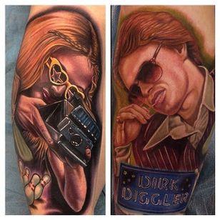 Boogie Nights tattoo by Mike DeVries (via IG -- mdtattoostudio) #MikeDeVries #boogienights #paulthomasanderson