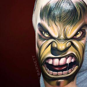 Hulk esmaga!!! #LeviBarnett #realismo #realism #tattooartist #tatuador #nerd #geek #hulk #marvel #comic #hq #movie #filme #superhero #superheroi