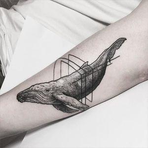 Blackwork whale tattoo by Sunghee Hwang. #SungheeHwang #Sou #SouTattooer #blackwork #whale