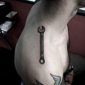Bike tattoo by Nalea Kim. #bike #fixie #biker #cyclist #biking #sport #wrench