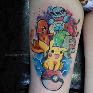 Por Guilherme Moraes #GuilhemeMoraes #brasil #brazil #brazilianartist #tatuadoresdobrasil #aquarela #watercolor #sketchstyle #nerd #geek #colorido #colorful #pokemon #desenho #animação #cartoon #comics #anime