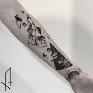 Dotwork Galaxy Tattoo by Gioele Cassarino #dotworkgalaxy #dotworkgalaxytattoo #dotworkgalaxytattoos #dotwork #dotworktattoo #galaxy #galaxytattoo #space #spacetattoo #dotworkspacetattoo #GioeleCassarino