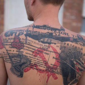 Tattooed Russia, photo by Ulyana Turchanina. #Russia #Russian #patriot #pride #trashpolka #militarytribute