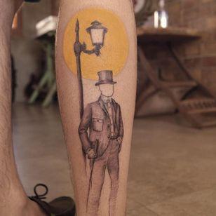 Graphic tattoo made at La Bottega dell'Arte #labottegadellarte #graphic #contemporary #gentleman