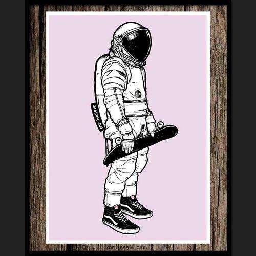 The Spaceman by Mr Heggie. #mrheggie #art #astronaut #skateboard #space