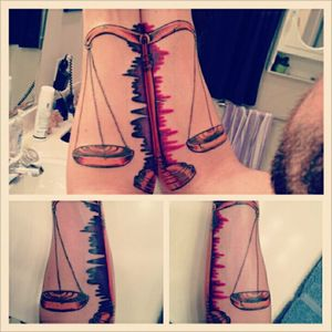 Shane Gann's balance tattoos on his forearm. Tattooed by Steven Riggs (via IG - riggstattoos) #ShaneGann #HailTheSun #Balance