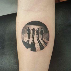 A Clockwork Orange tattoo by Merrick Ames #MerrickAmes #clockworkorange #blackandgrey #micro #tattoooftheday