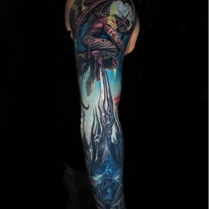 A fantastic Warcraft sleeve from Jamie Schene's (IG—jamie_schene) killer portfolio. #ArthasMenethil #Blizzard #IllidanStormrage #JamieSchene #TheLichKing #Warcraft