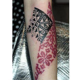 Red ink design by Adine Tetovacky #AdineTetovacky #ornamental #graphic #pattern #redink