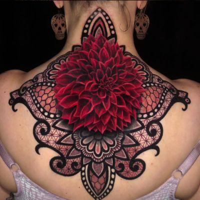 A beautiful flower/ornamental combination by Jamie #JamieSchene #colorrealism #ornamental