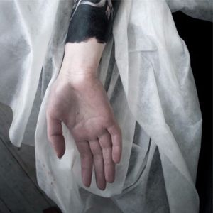 Arm blackwork tattoo. #NastasjaBarashkova #abstract #contemporaryart #blackwork