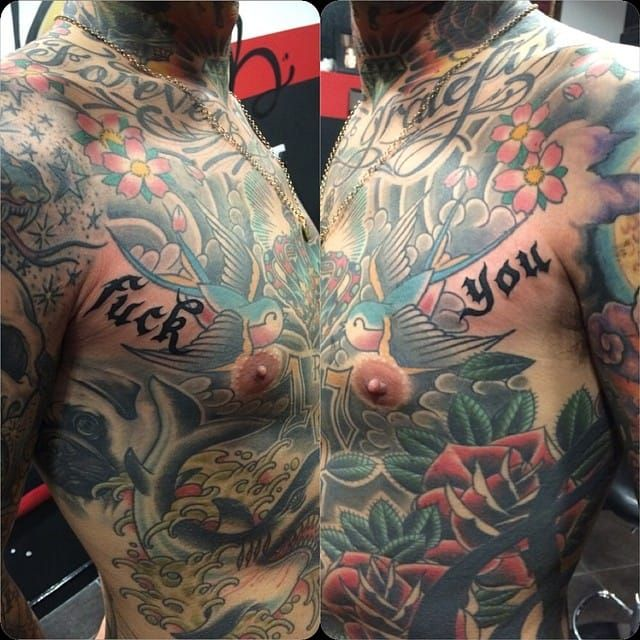 Fuck You Tattoo on the sides by Kayne Sherwood @KayneSherwoodTattoo #KayneSherwoodTattoo #London #Lettering #FuckYou #FuckYouTattoo