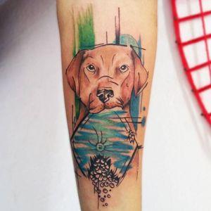 #catiorineo #cachorro #dog #aquarela #watercolor #MantraTattoo #TattooGuest #TattooGuestLive #fineline #mandalas #SaoPaulo #SP #brasil