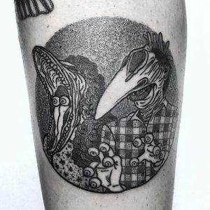 Beetlejuice! by Van Priegonova (via IG-vanpriegonova) #blackwork #linework #illustrative #vanpriegonova