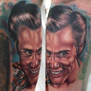 Ace Ventura Tattoo by Kristian Kimonides #AceVentura #Portrait #colorportrait #KristianKimonides
