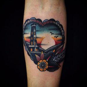 Heart tattoo by Matt Cooley. #MattCooley #heart