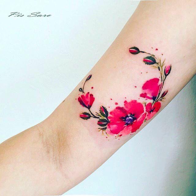 Blossoms Tattoo by Pis Saro @Pissaro_tattoo #PisSaro #PisSaroTattoo #Nature #Watercolor #Naturetattoo #Watercolortattoo #Botanical #Botanicaltattoo #Crimea #Russia #Blossoms